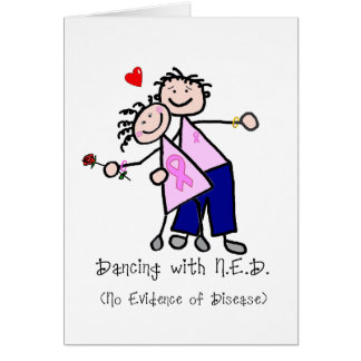 Dancing with N.E.D. - Breast Cancer Pink Ribbon Greeting Card