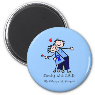 Dancing with N.E.D. - Colon Cancer 6 Cm Round Magnet