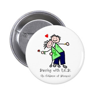 Dancing with N.E.D. - Liver Cancer 6 Cm Round Badge
