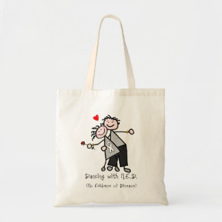 Dancing with N.E.D. - Lung Cancer Budget Tote Bag