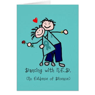 Dancing with N.E.D. Ovarian Cancer Greeting Card