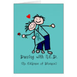 Dancing with N.E.D. Teal Ribbon Card