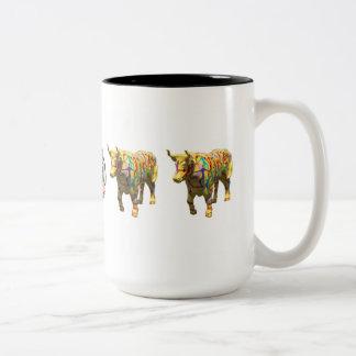 """Dancing with Oxen"" 15 oz mug"
