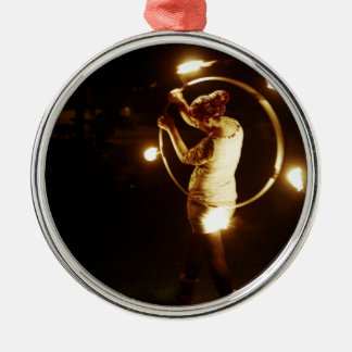Dancing with the fire christmas ornament