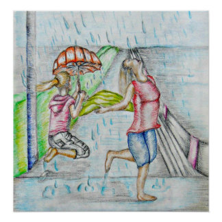 dancing with the rain poster