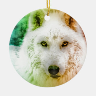 Dancing Wolf Christmas Ornament