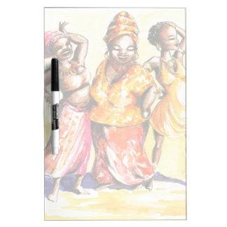 Dancing women dry erase board
