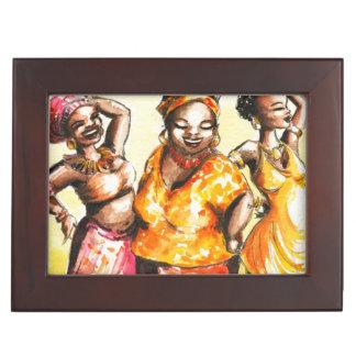 Dancing women keepsake box