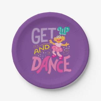 Dancing Zoe 7 Inch Paper Plate