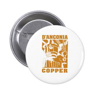 d'Anconia Copper / Copper Logo 6 Cm Round Badge