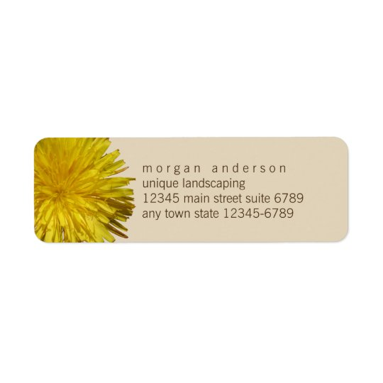 Dandelion 1 | Yellow Floral Garden Fun Business