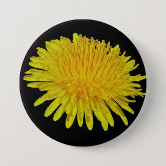 dandelion 7.5 cm round badge