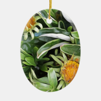 Dandelion a la Van Gogh Christmas Ornament