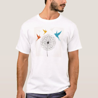 Dandelion and bird T-Shirt