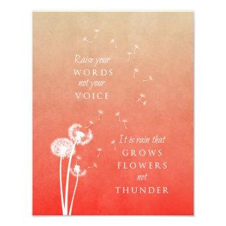 Dandelion art print - Raise your words Photo Art