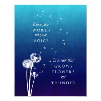 Dandelion Art - Raise your words Photo Art