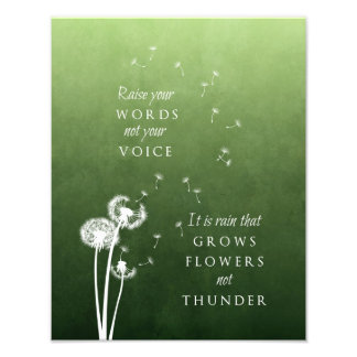 Dandelion Art - Raise your words Photograph