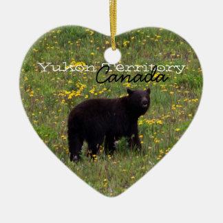 Dandelion Bear; Yukon Territory Souvenir Christmas Ornament