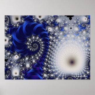 Dandelion Beautiful Abstract Fine Art Fractal Poster