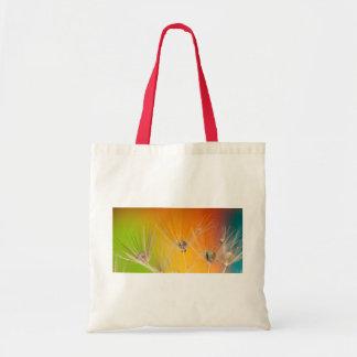 Dandelion Blossoms Flowers Destiny Peace Love Art Bags