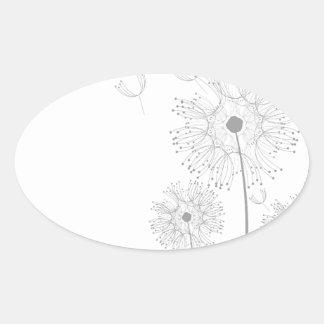 Dandelion Blossoms Vines Romantic Wedding Shower Stickers
