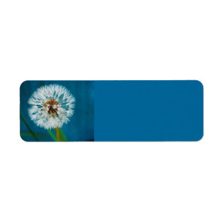 Dandelion Blue Avery Label Return Address Label