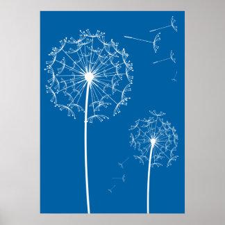 dandelion blue poster