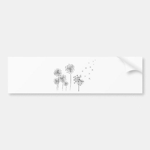 Dandelion Bumper Sticker