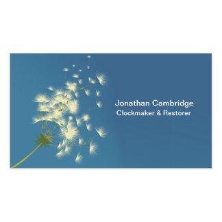 dandelion clock business card
