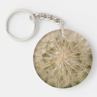 Dandelion Clock Close-Up Key Ring