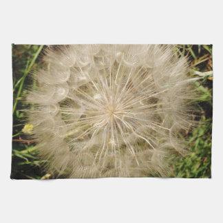 Dandelion Clock Close-Up Tea Towel
