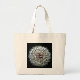 Dandelion Clock Large Tote Bag