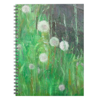 Dandelion Clocks in Grass 2008 oil on canvas Notebooks