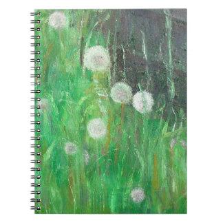 Dandelion Clocks in Grass 2008 oil on canvas Notebooks