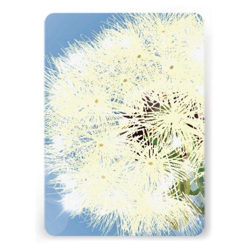 Dandelion Closeup Personalized Invites