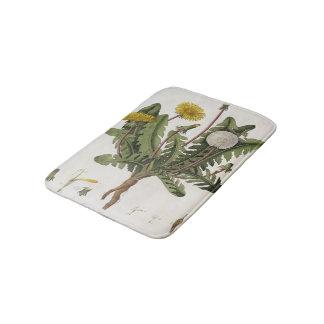 Dandelion (colour engraving) bath mat