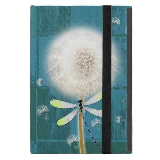 Dandelion dragonfly rustic blue barn wood iPad mini cover