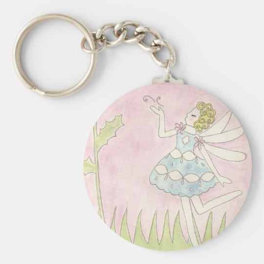 Dandelion Fairy Key Ring