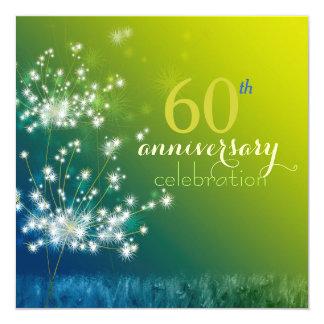 Dandelion Field 60th Wedding Anniversary Party 13 Cm X 13 Cm Square Invitation Card