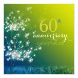 Dandelion Field 60th Wedding Anniversary Party Custom Invite