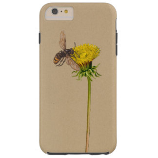 Dandelion flower and bee tough iPhone 6 plus case