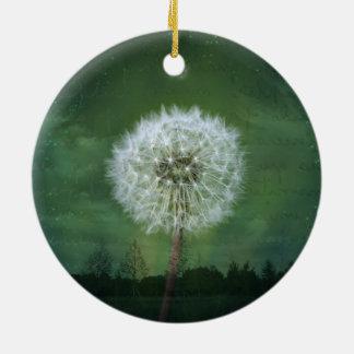 Dandelion Flower Fluff Starry Sky Art Christmas Ornament