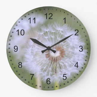 Dandelion Flowers Large Clock