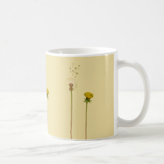 Dandelion flowers on beige background - Spring Coffee Mug