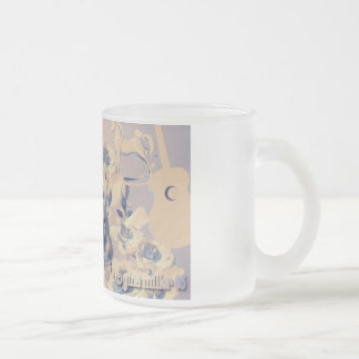 Dandelion Frosted Glass Mug
