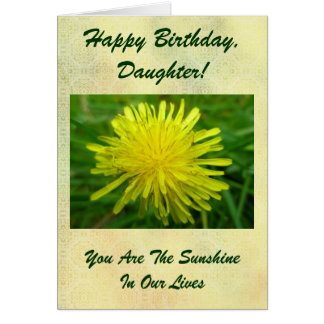 Dandelion Happy Birthday Daughter Card