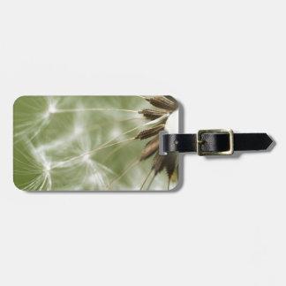 Dandelion Head Luggage Tag