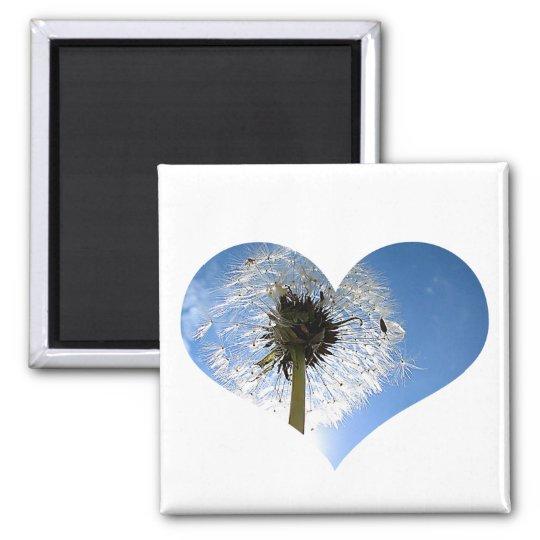 Dandelion Heart Magnet