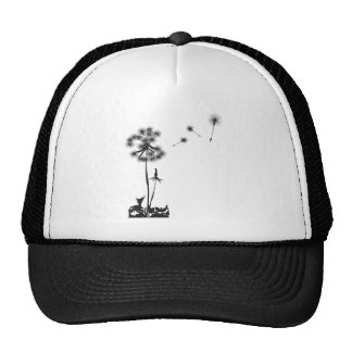 dandelion illustration cap