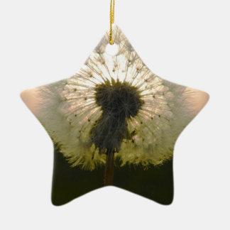 dandelion in the sun christmas ornament